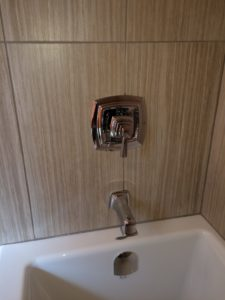 Caulked Shower Controls